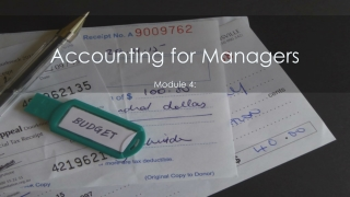 Bookkeeping and  the accounting cycle