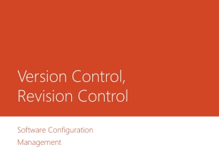 Version Control,  Revision Control