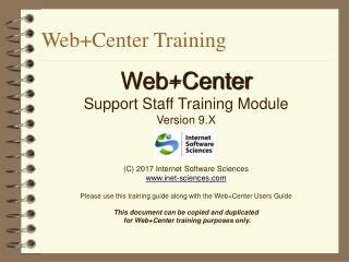 Web+Center Training