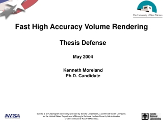 Fast High Accuracy Volume Rendering
