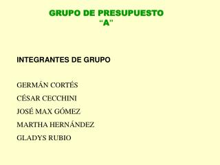 INTEGRANTES DE GRUPO