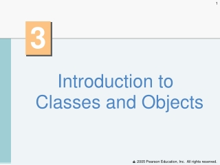 Introduction to Classes and Objects