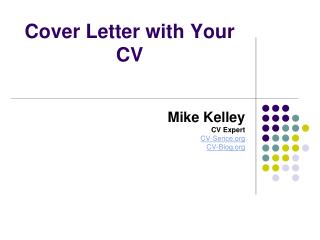 Cover Letter with Your CV