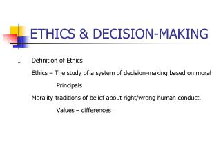 ETHICS  DECISION-MAKING