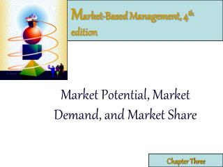 M arket-Based Management, 4 th  edition
