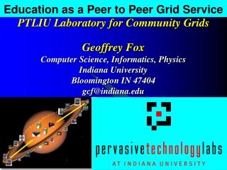 Education as a Peer to Peer Grid Service