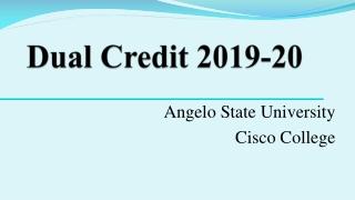Dual Credit 2019-20