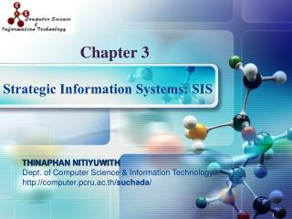 Strategic Information Systems: SIS