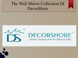 The 2020 Wall Mirror Collection of DecorShore