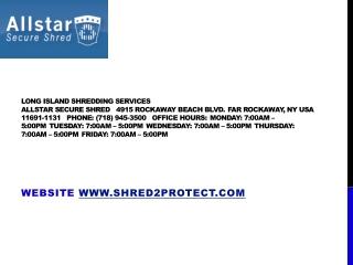Long Island Shredding, All Star Secure Shred
