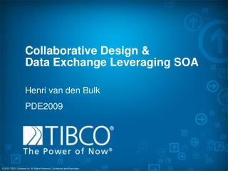 Collaborative Design   Data Exchange Leveraging SOA
