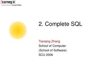 2. Complete SQL