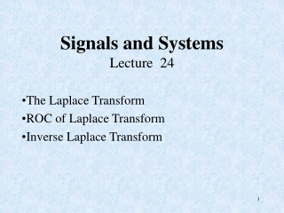 Signals and Systems Lecture  24