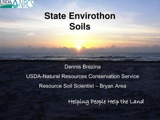 State Envirothon Soils