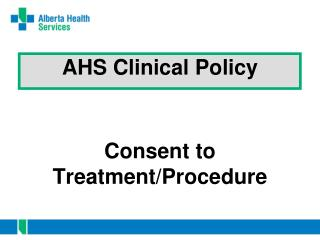 AHS Clinical Policy