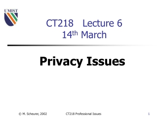 CT218   Lecture 6  14 th  March