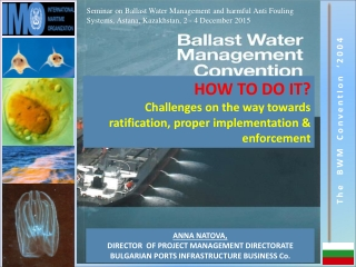 HOW TO DO IT? Challenges on the way towards ratification, proper implementation & enforcement