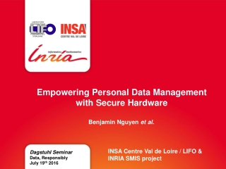 Empowering Personal Data Management with Secure Hardware