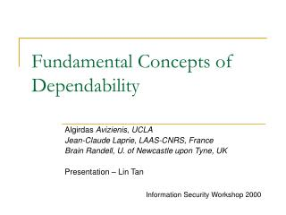 Fundamental Concepts of Dependability