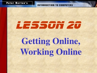 Getting Online, Working Online