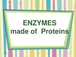 ENZYMES  made of  Proteins