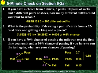 5-Minute Check on Section 6-2a