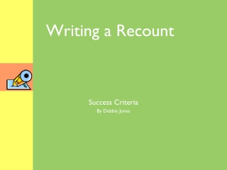 Writing a Recount