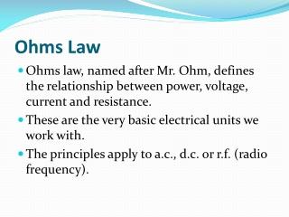 Ohms Law