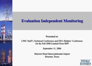 Evaluation Independent Monitoring