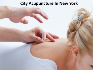 Best Acupuncture Treatment in New York - City Acupuncture