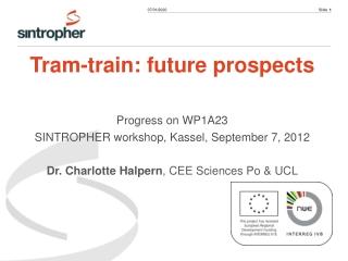 Tram-train: future prospects