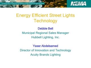Energy Efficient Street Lights Technology