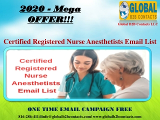 Certified Registered Nurse Anesthetists Email List