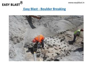 Boulder Breaking