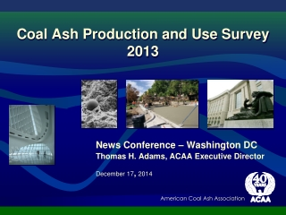 Coal Ash Production and Use Survey 2013