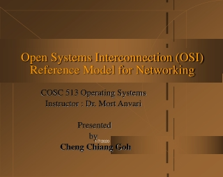 Open Systems Interconnection (OSI) Reference Model for Networking