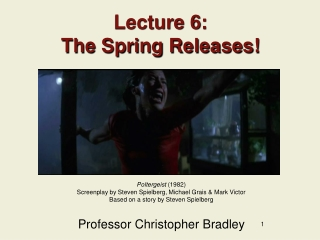 Lecture 6: The Spring Releases!