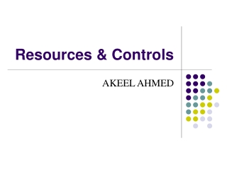 Resources & Controls