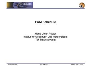 FGM Schedule