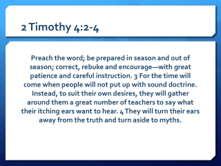 2 Timothy 4:2-4