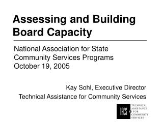 Assessing and Building Board Capacity