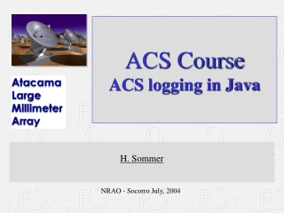 ACS Course ACS logging in Java