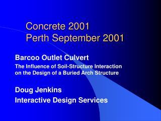 Concrete 2001 Perth September 2001