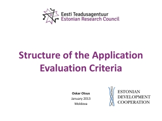 Structure of the Application Evaluation Criteria