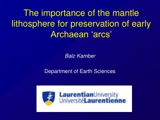 The importance of the mantle lithosphere for preservation of early Archaean 'arcs'