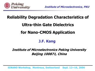 racteristics of ultra thin gate dielectricshfo2 gate stackhigh temperature annealing effecttddb, pbti, and nbtision in p