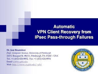 Automatic  VPN Client Recovery from  IPsec Pass-through Failures
