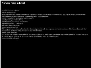 Norvasc Price In Egypt