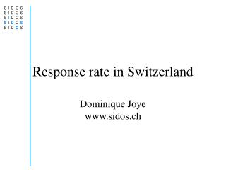 Response rate in Switzerland
