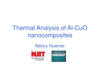 Thermal Analysis of Al-CuO nanocomposites